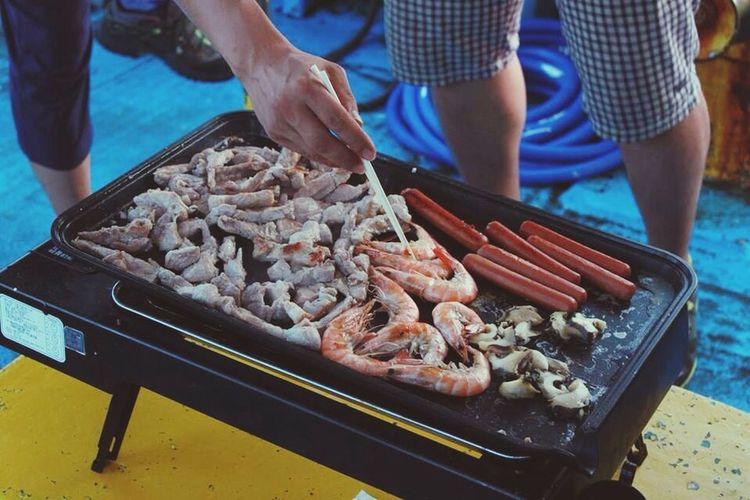 차귀도 배낚시 !! 야간에 배위에서 먹는 바베큐 ! JEJU ISLAND  Boat Fishing Enjoying Bbq