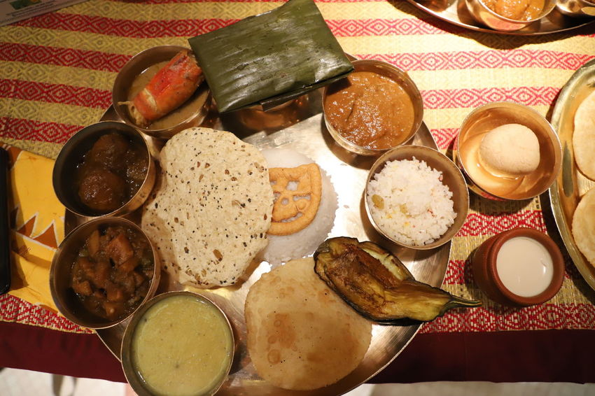 Authentic Bengali food Traditional Food Traditional Culture Traditionalfood Indoors  No People Food Variation Table