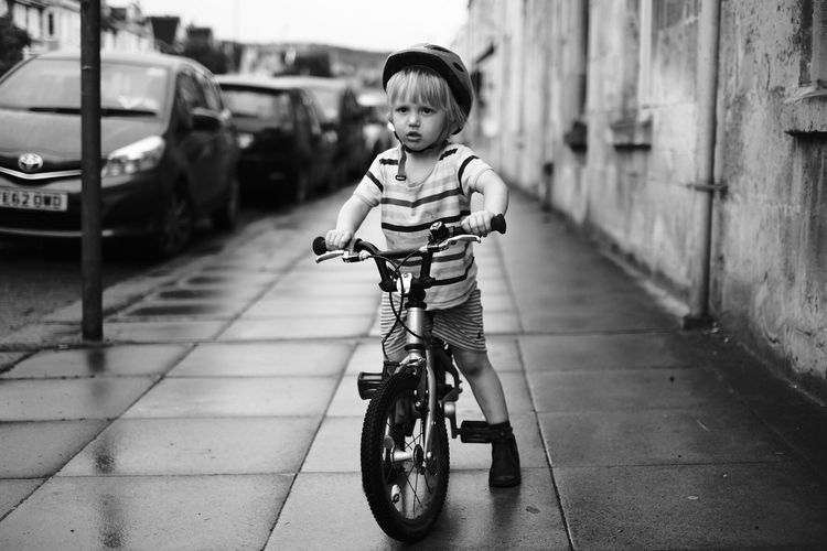 The Portraitist - 2017 EyeEm Awards Childhood Full Length One Person Real People Boys Day Casual Clothing Bicycle Transportation Outdoors One Boy Only People