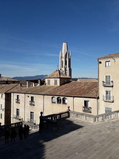 Girona Catalunya Catalonia Barri Vell Clear Sky City Sky Architecture Building Exterior Church Historic