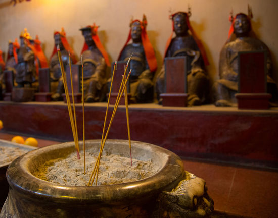 Man Mo Temple, Hong Kong Island Buddah Death Hong Kong Insence Stick Man Mo Buddist Temple Man Mo Temple Beliefs Buddism Buddist Buddist Temple Close-up Day Focus On Foreground Hong Kong Island Indoors  Insence Sticks No People Place Of Worship Religion Spirituality Statue Statues Temple Traditon