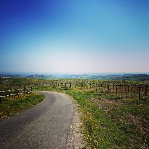 giro Bici giornata favolosa Clear Sky Sky Landscape Grass