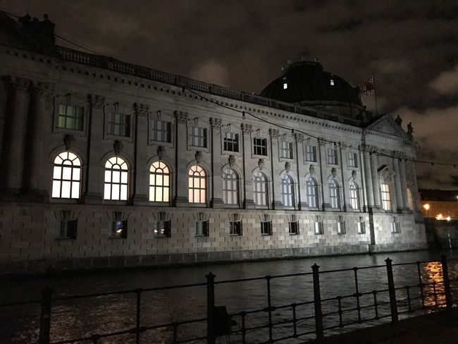Architecture Building Exterior Built Structure Travel Destinations Illuminated City Sky No People Night Outdoors Berlin Bodemuseum
