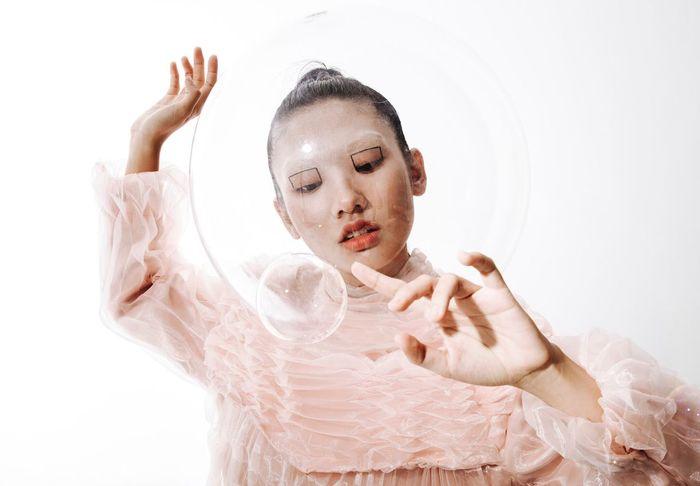 Portrait Fashion Andromeda Futuristic Space