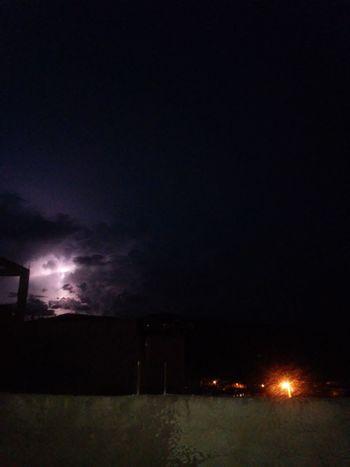 Eugenópolis, MG - anoitecer !! Power In Nature Night Dark Illuminated No People Outdoors Nature Sky