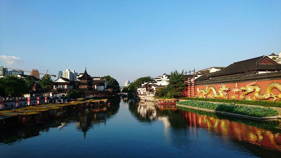 Along QinHuai river, Nanjing.Reflection Water Travel Destinations Blue Sky Travel Nanjing.China Chinese Style Miles Away EyeEmNewHere