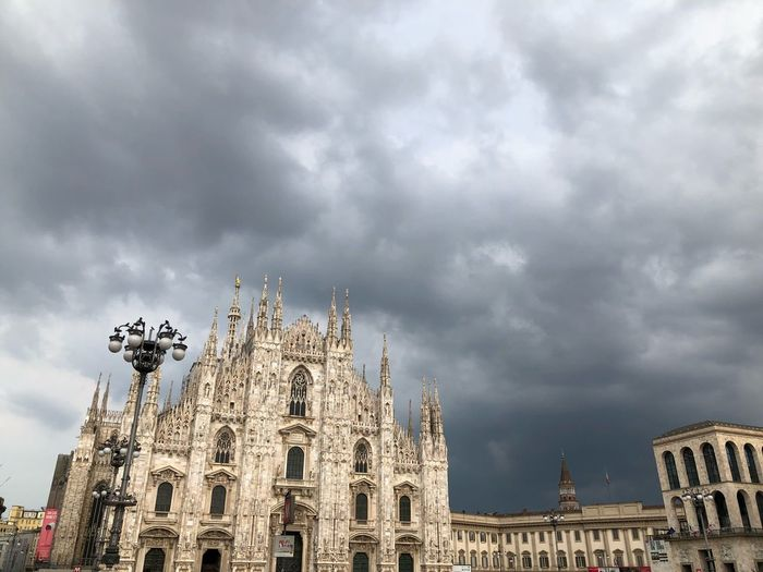 The storm is coming.. No People No Filter, No Edit, Just Photography Summer Clouds Upcoming Storm Milano Duomo Di Milano Cloud - Sky Built Structure Architecture Building Exterior Sky Low Angle View Religion