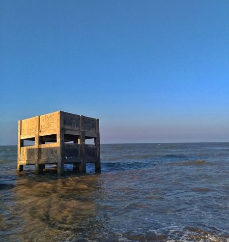 Sea Built Structure Water Wood - Material Horizon Over Water Beach No People Outdoors Clear Sky Architecture Blue Building Exterior Day Sky EyeEm On The Week Business Finance And Industry