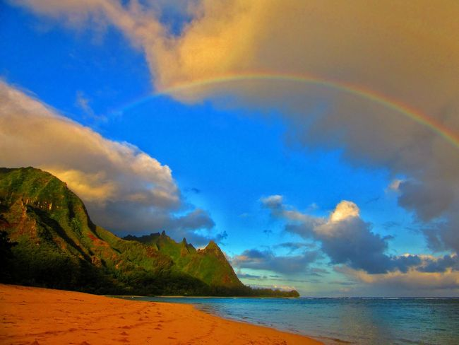 Beauty In Nature Cloud - Sky Day Haena Kauai Kauai Hawaii Kauai♡ Landscape Makua Mountain Nature No People Ocean Outdoors Scenics Sea Sky Tunnels Beach Water Traveling Home For The Holidays Finding New Frontiers Live For The Story Been There. Been There. Be. Ready. An Eye For Travel