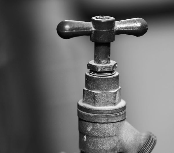 Close-up of faucet outdoors