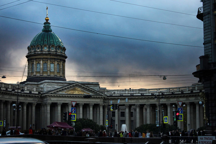Architectural Column Architecture Built Structure City Cloud - Sky Day No People Saint Isaac's Cathedral Saint Petersburg Sky