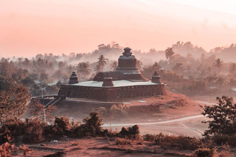 Htukkankthein Temple Ancient Civilization Religion Tree Dawn Place Of Worship Fog Ancient Beauty Old Ruin Shrine Pagoda Ancient Civilization Myanmar Culture Archaeology Myanmar Civilization