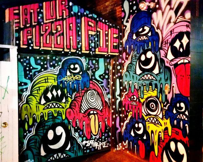 Toronto Graffiti Night Street Photography Urban Pizza Shop