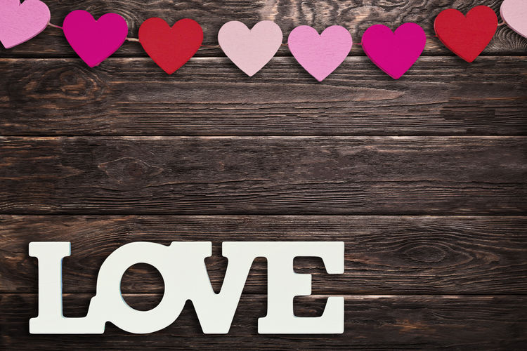 Text Love Celebration Still Life Emotion Brown Valentine's Day  Valentine Wedding Marriage  Wooden Hearts Relationship Birthday Greeting Greeting Card  Test Word Letters White Background Heart Wood Friendship Design Card