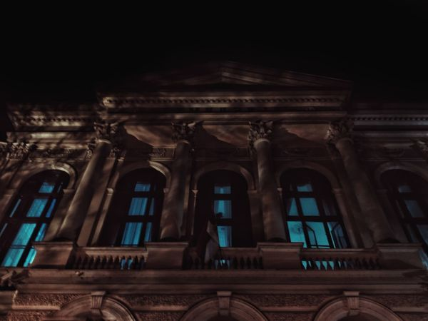 Travel Destinations Architecture Low Angle View History Architectural Column Travel Night Built Structure Arts Culture And Entertainment No People Outdoors Sky Ancient Civilization Night Nightphoto Nightphotography