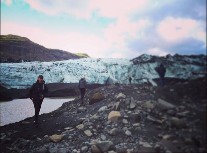 Hiking Beauty In Nature Nature One Person Mountain Glacier Ice Cold