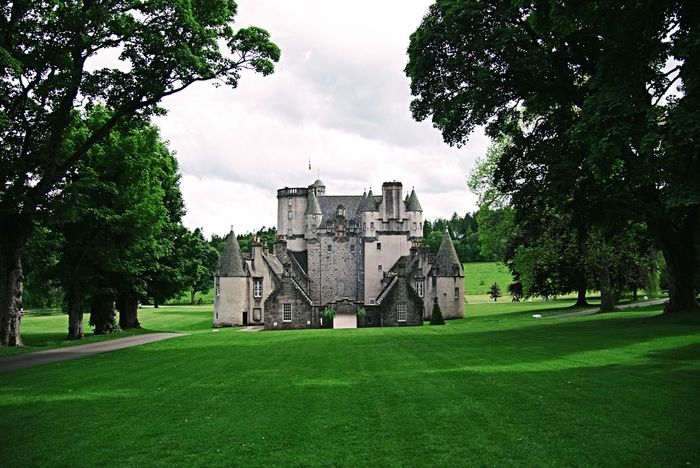 Castle Fraser Grass Building Exterior Green Color Architecture Castle Castle Fraser Scotland Aberdeenshire Outdoors History Scottish Castle