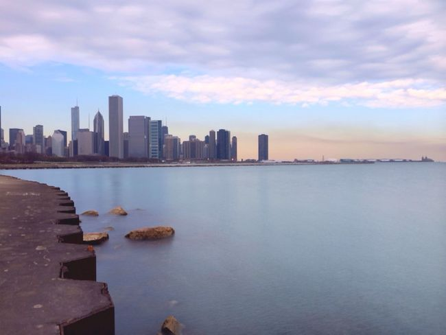 I spent yesterday in Chicago // I shot this with the SlowShutter app to get that long exposure look //edited with the Wood Camera app | Woodcamera