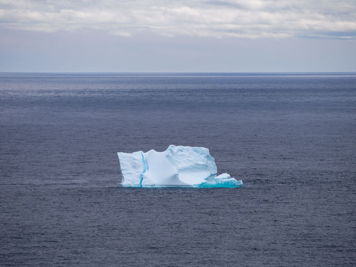 Iceberg Floating On Sea
