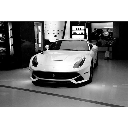 Ferrari Ferrari F12 Berlinetta Carsofeyeem Ferraristore Manhattan NYC NYC Photography Black And White Photography Exotic Cars