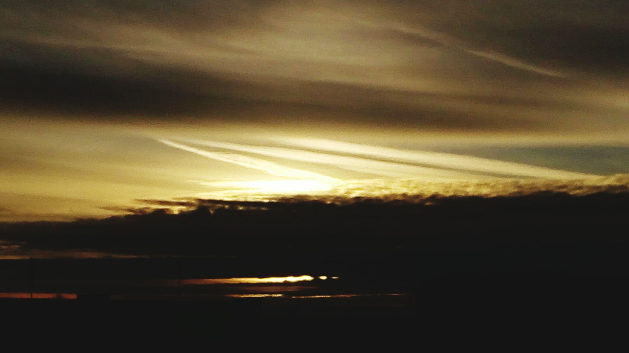 sunset, silhouette, sky, cloud - sky, scenics, beauty in nature, tranquil scene, tranquility, orange color, nature, cloud, cloudy, idyllic, dramatic sky, dark, outdoors, landscape, sun, weather, moody sky