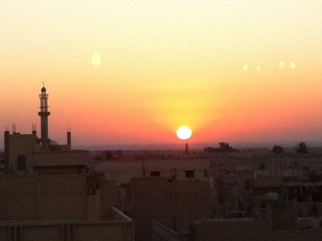 Sunrise Hello World Quality Time Beautiful Sunrise Early Morning Syria