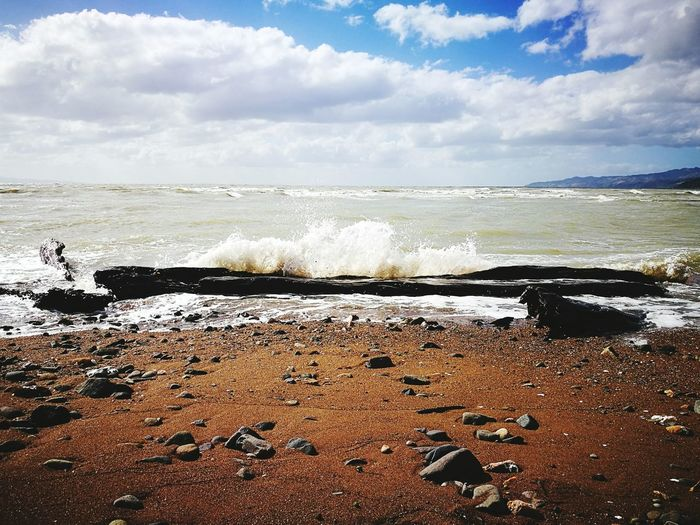 Sea Water Wave Beach Splashing Nature Horizon Over Water Motion Outdoors Day Beauty In Nature No People Sky Power In Nature