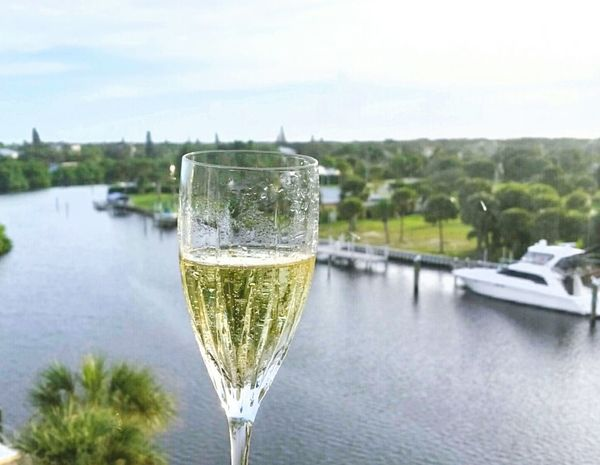 Bubbly Champagne Sparkling Wine Lagoon Boat Florida Life New Years Eve 2015