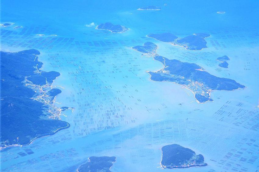 Water Blue No People Outdoors Nature Day Sky Landscape Korea Backgrounds Airplane View Airplane Window View Sea Hsun Summer Vacations Popular Photos Fish Farm Jeju EyeEmNewHere EyeEm Korea NX300M