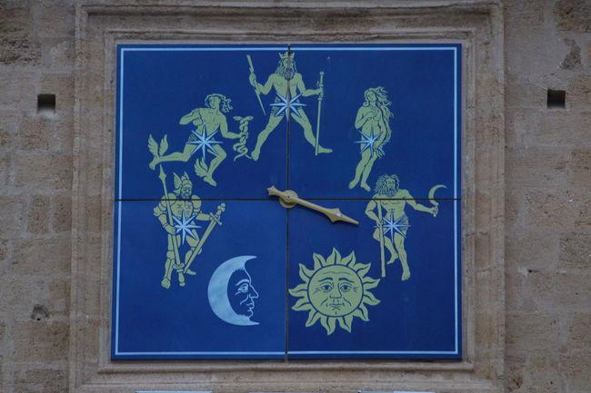 Plaque Nostradamus Blue No People Day