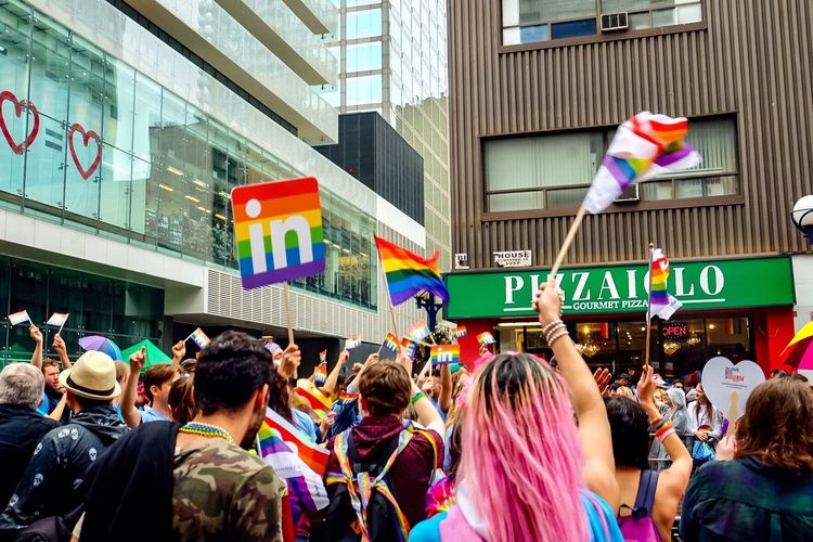 Toronto LGBT Rainbows Rainbow Colors Lgbt Pride Pride Parade Prideparade Pride Architecture Crowd Building Exterior City Large Group Of People Built Structure Street Lifestyles Celebration The Street Photographer - 2018 EyeEm Awards EyeEmNewHere Love Is Love #urbanana: The Urban Playground