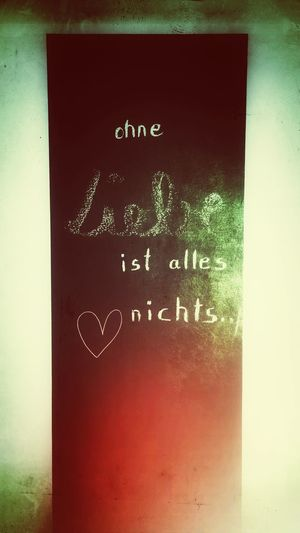 Love Chalk So ist es!