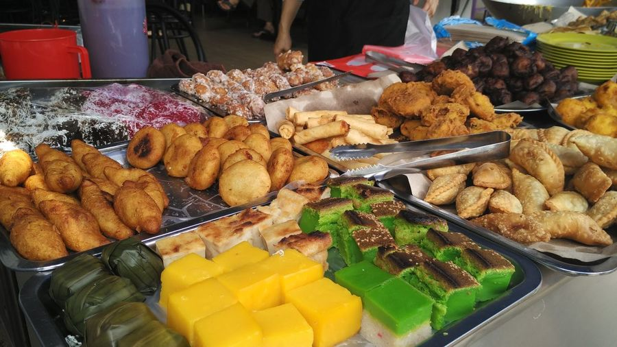 Various Types Of Food On Display At Market
