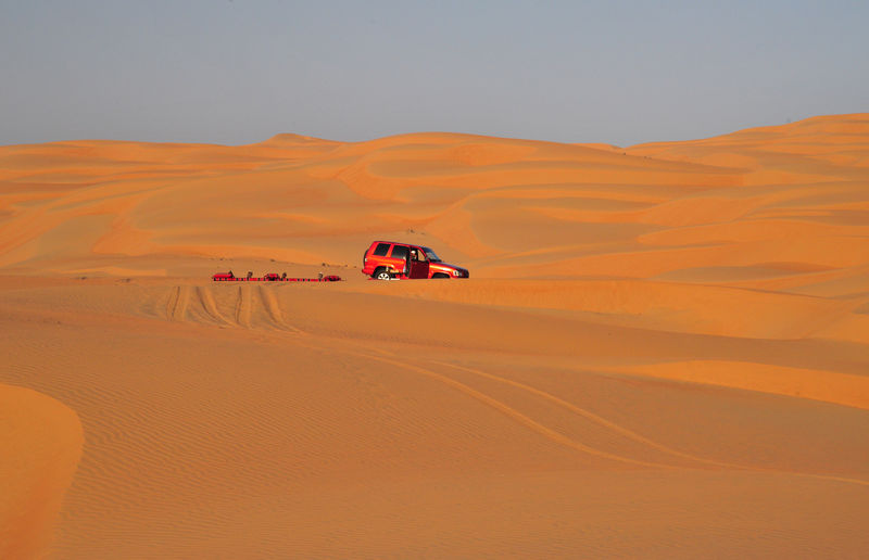 Desert EyeEmNewHere Arid Climate Beauty In Nature Climate Desert Environment Land Land Vehicle Landscape Mode Of Transportation Motor Vehicle Nature No People Non-urban Scene Off-road Vehicle Outdoors Sand Sand Dune Scenics - Nature Sky Transportation Travel