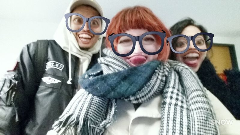 Eyeglasses  Portrait Looking At Camera Friendship Fun Adult Youth Culture Adults Only Sunglasses People Happiness Fashion Eyewear Individuality Togetherness Cheerful Smiling Human Body Part Warm Clothing Fun Hi! EyeEm Gallery LOL! Classmates Hello World