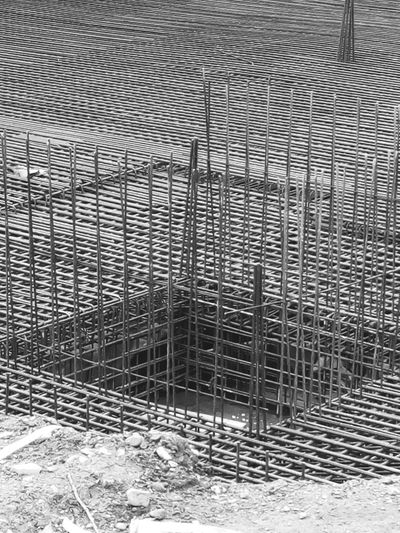 building a house fundament reinforced steel Steel Reinforcement Reinforced Steel Reinforced Concrete Fundament Build Building Construct Construction Architecture Pattern Full Frame Backgrounds No People Textured  Day Indoors  Close-up