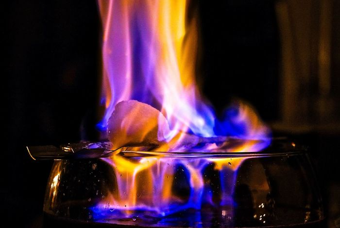 Burning Close-up Colorful Feuerzangenbowle Fire Flame Heat - Temperature Indoors