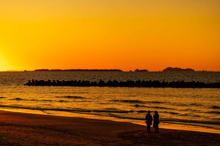 綾羅木海岸 Sunset