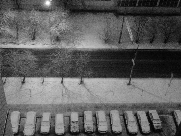 Веду репортаж из середины апреля Schnee Snow ❄ April Night