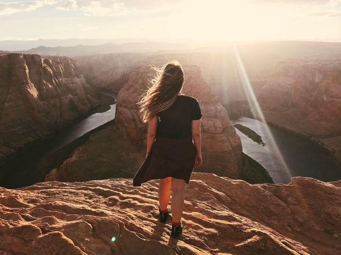 Adventure Girl on Sunset TheAdventuresOfAmanda Road Trip Adventure Girl Beautiful Girl Sunset Girl Power Flare Sunshine Sunrise Traveling Travel Destinations Vacations The Adventures Of Amanda The Great Outdoors - 2018 EyeEm Awards The Traveler - 2018 EyeEm Awards Summer Road Tripping Be Brave International Women's Day 2019