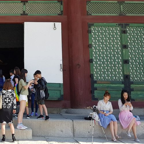 Gyeongbokgung Palace, Seoul 5 Centuries Seoul Streetphotography Streetphotography Joseon Dynasty Tripwithson2017 Seoul South Korea