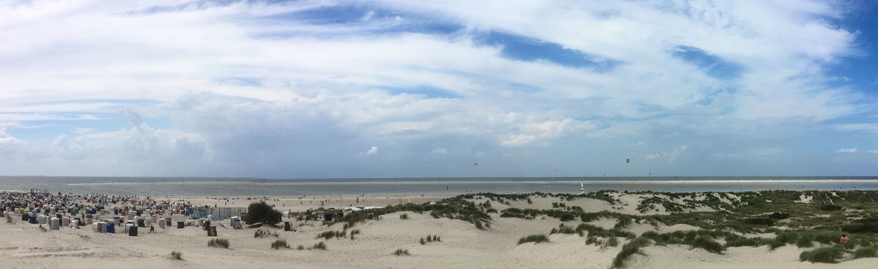 Dunes on the island of Borkum, Germany Beach Beachlife Beauty In Nature Blue Cloud Cloudy Coastline Day Horizon Over Water Idyllic Nature No People Non Urban Scene Ocean Outdoors Panorama Remote Scenics Sea Shore Sky Tranquil Scene Tranquility Water Weather