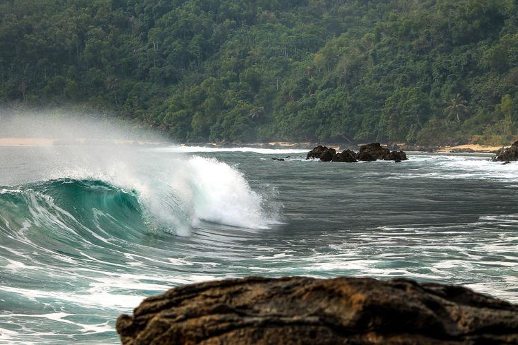 keep running Crash Sea Water Wave Waterfall