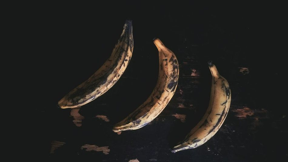 Banana Banana Peel Black Background Close-up EyeEmNewHere Food And Drink Freshness Fruit Healthy Eating High Angle View Kitchen Table