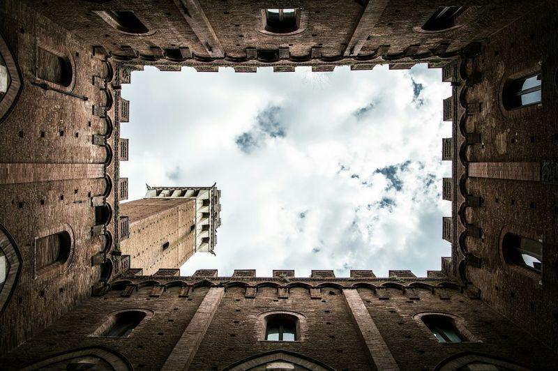 Upward view of saint mark's tower
