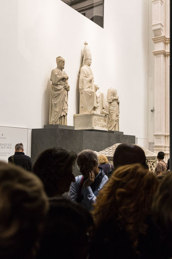 Human Representation Representation Sculpture Statue Art And Craft Creativity Male Likeness Architecture Women Group Of People Craft People Real People Female Likeness Crowd History Built Structure Religion Adult Opera Museum Florence Florence Cathedral Florence Churces Museum Of Art