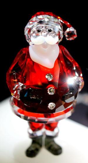 Santa Claus Glass - Material Weihnachtsmann ChristmasGift Glass Objects  Glas Christmas Decorations Weihnachtsdeko Spooky Sparkle Sparkles Funkeln Glitzerstein Kitsch Oder Kunst Kitsch Shades Of Winter