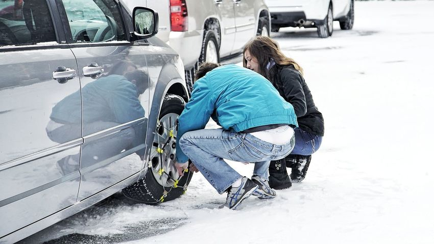 snow chains Big Bear Lake CA Politics And Government One Person Full Moon Cold Temperature Frozen Outdoors Beauty In Nature No People Snowing Mode Of Transport Intelligence Standing Transportation Land Vehicle Car Snow Winter Full Length Day People Adult Adults Only