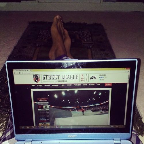 When everything on tv is the World Cup...me and a few friends go cyber stream...waiting for Fajr Streetleagueskateboarding2014 WhatsThehypeoverOneBall ?