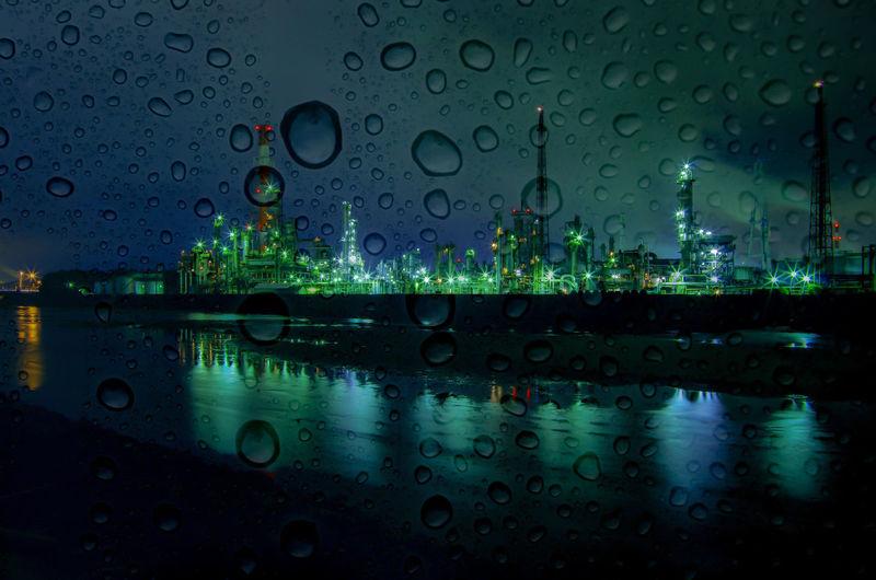 雨の大正橋 Japan Sea K-5Ⅱs Pentax 四日市 三重県 ペンタックス 大正橋 多重露光 夜景 Night Lights Night View Landscape